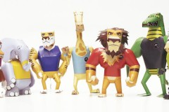 Dodgeball Safari • papertoys
